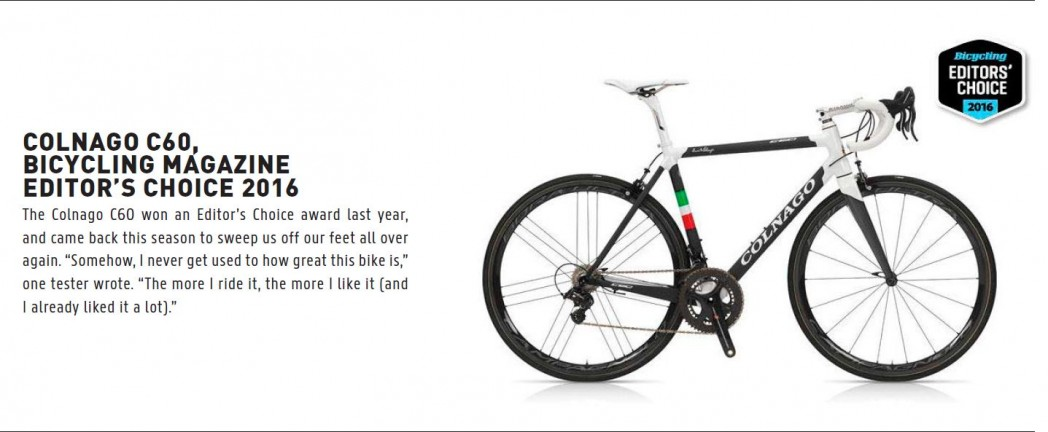 Colnago C60 editors choice 2016